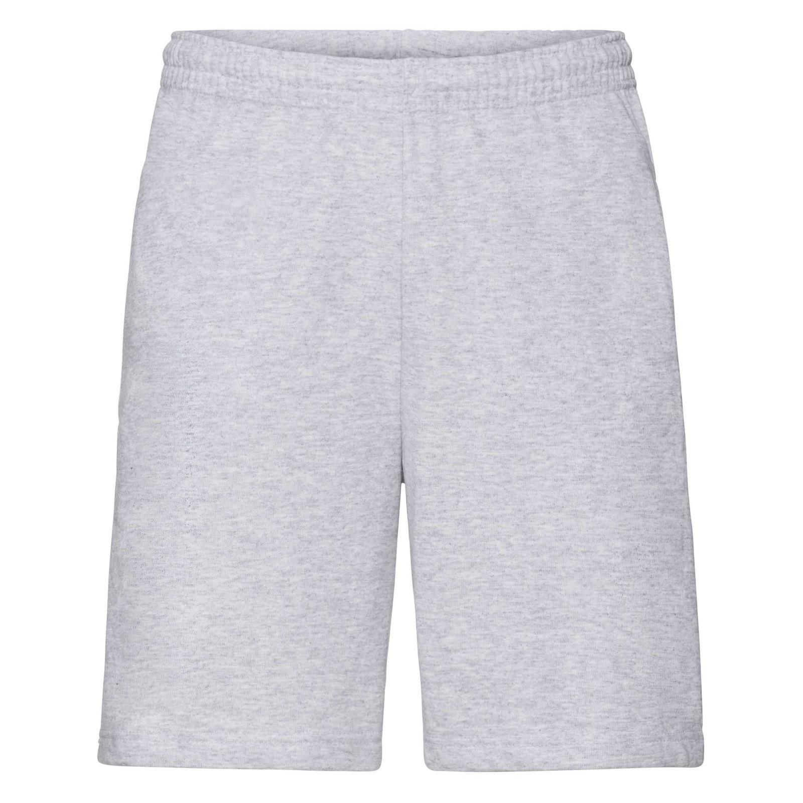 Grijze shorts korte joggingbroek voor heren