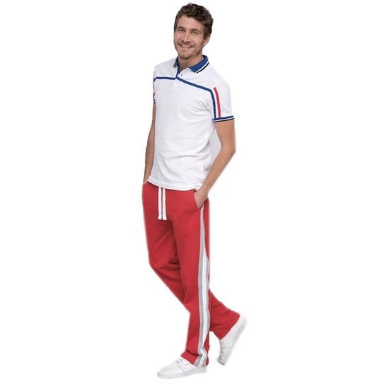 Joggingbroek/sportbroek rood met streep voor heren