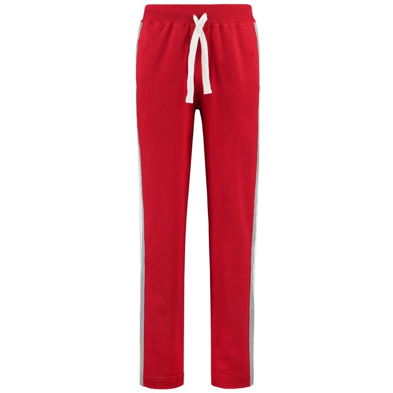 Joggingbroek sportbroek rood met streep voor dames