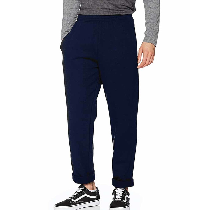 Joggingbroek fruit of the loom blauw open leg voor volwassenen